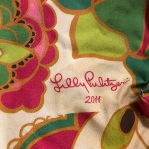 Lily Pulitzer fabric tote bag